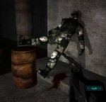 When you pin an enemy to the wall with the penetrator, sometimes they end up in funny poses.